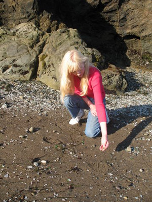 Mary Collecting Sea Glass